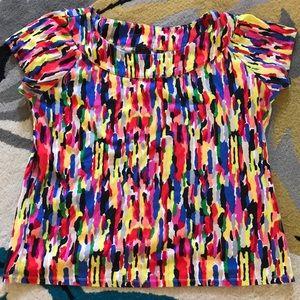 Rainbow of colors Rafaella Shirt size 1X